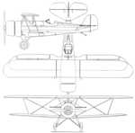 Pitcairn PA-7 Sport Mailwing 3-view Aero Digest April,1930.png