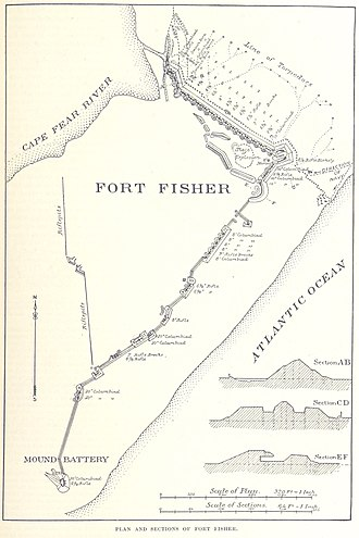 Fort Fisher - A plan of the fort