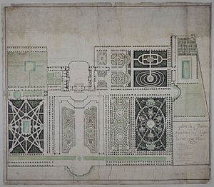 Château de Clagny - Plan of the Château and its gardens