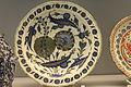 Plat au style saz - milieu du 16° siècle - Iznik - Musée national de céramique - Sèvres - Inventory number 4411.JPG