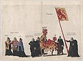 Plate 35- Men with heraldic flags and horses from Charolois marching in the funeral procession of Archduke Albert of Austria; from 'Pompa Funebris ... Alberti Pii' MET DP874759.jpg