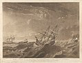 Plate IV. A View of the Sea on the Morning after the Storm, with the distressed situation of the Centaur, Ville de Paris and the Glorieux as seen from the Lady Juliana, the Ville de Paris passing to Windward under RMG PY8434.jpg