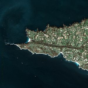 Pointe du Raz - Pointe du Raz seen from Spot Satellite