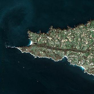 Pointe du Raz - Pointe du Raz seen from Spot Satellite