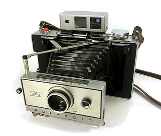 Polaroid Corporation - Polaroid Automatic 350 instant camera, made from 1969 to 1971, MSRP $150