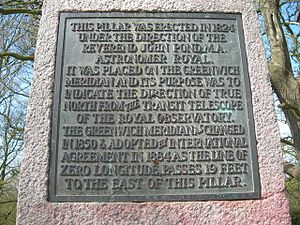 Pole Hill -  Plaque on obelisk