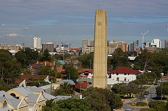 Highgate, Western Australia - The Lincoln Street Vent in Highgate, taken from the Stirling Towers apartment block.