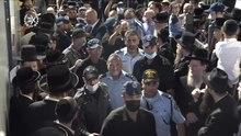 File: dispiegamento della polizia a Meron presso il rabbino Shimon Bar Yochai Yom Hillula, aprile 2021. A.webm