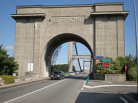 The bridge over the Rhone, in Le Teil