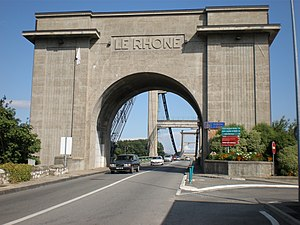 Le Teil - The bridge over the Rhone, in Le Teil