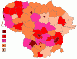 Population density in municipalities of Lithuania.png