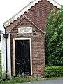 Porch of the former Gospel Hall, Paradise Road, Bawdeswell, Norfolk, England.jpg