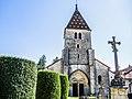 Porche et clocher de l'église de Champlitte-la-Ville.jpg