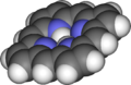 Space-filling model of porphyrin