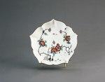 Porslin. Fat med blomsterdekor - Hallwylska museet - 89164.tif
