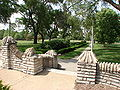Portage Park Chicago flagstone steps.JPG