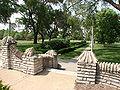 Portage Park Chicago flagstone steps.JPG