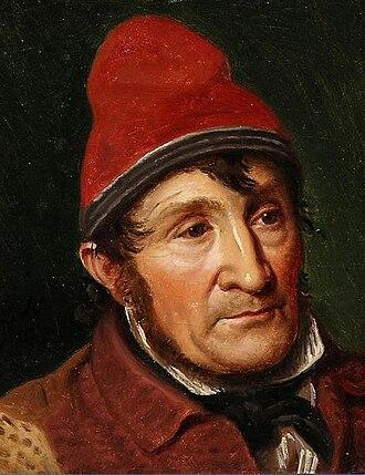 Bombebøssen - Constantin Hansen:Portrait of Jean Holm, a pauper  Bombebøssen