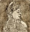 Portrait of Agnita Feis in Profile by Theo van Doesburg Centraal Museum AB4218.jpg