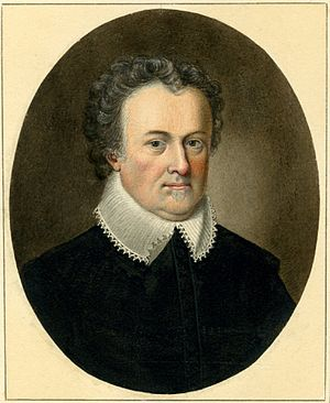 Michael Drayton - Portrait of Drayton by Sylvester Harding