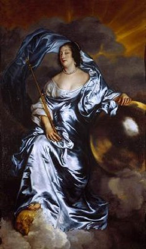 Thomas Wriothesley, 4th Earl of Southampton - Portrait c.1638 of Rachel de Massue, Southampton's first wife, by van Dyck