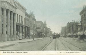 Danville, Illinois - East Main Street circa 1910