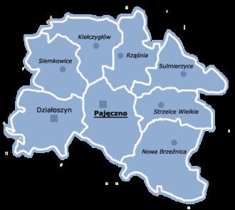 Pajęczno County - Image: Powiat pajęczański