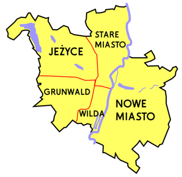 Administrative divisions of Poznań