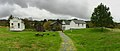 Prærielandsbyen ved Vestnorsk utvandringssenter (Western Norway Emigration Center), Radøy, Hordaland, Norway 2017-10-03 cropped distorted panorama b.jpg