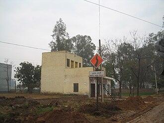 Pradhan Mantri Gram Sadak Yojana - Pradhan Mantri Gram Sadak Yojana marker in a village in Punjab