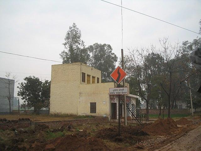 A PMGSY Road marker in Jalandhar.
