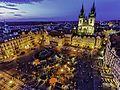 Prague cityscape at dusk (8325431303).jpg