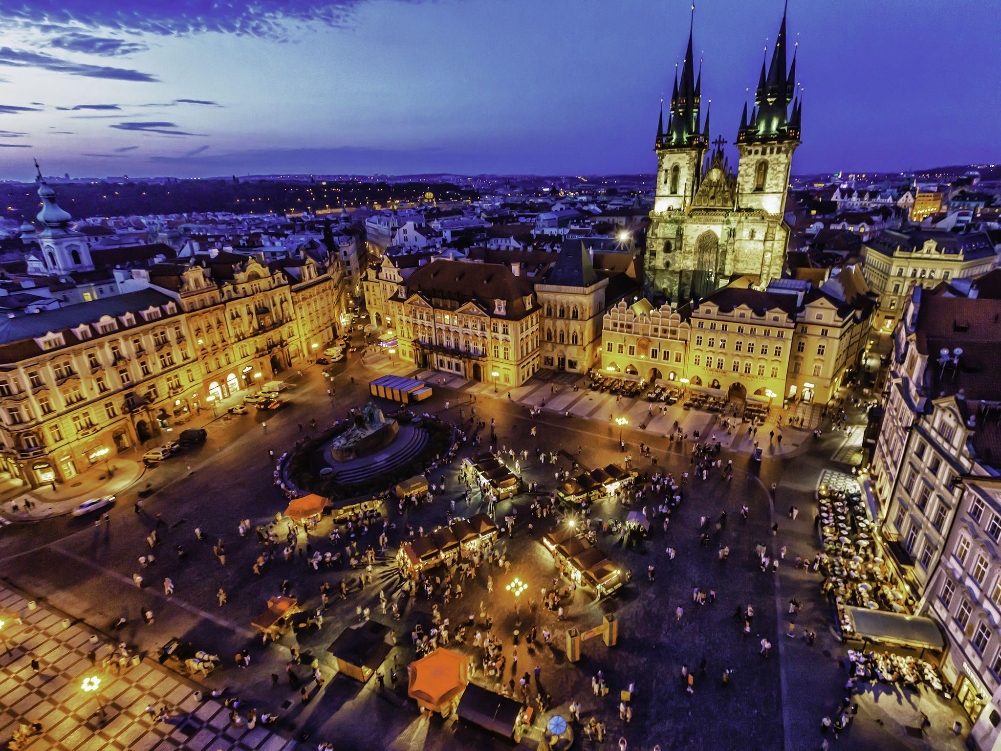 Prague cityscape at dusk (8325431303)