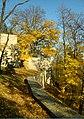 Praha, Smíchov, Kinského zahrada, bašta a zeď.jpg