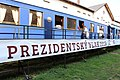 Praha, prezentace Prezidentského vlaku 2018, salonní vůz T. G. Masaryka, venkovní pohled (3).jpg