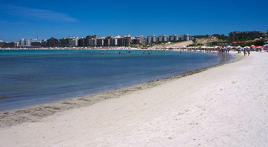 View on a Forte Sao Mateo beach
