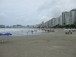Strand i Guarujá.
