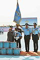 Pranab Mukherjee presenting the Standard to the 22 Squadron of Indian Air Force, at the President's Standard presentation ceremony, at Hasimara, in West Bengal. The Chief of the Air Staff.jpg