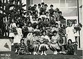 Predsednka prezidlja vrhovnega svojeta tov. Leonida Brežnjeva je ob obisku Velenja oktobra 1962 pričakal šopek velenjskih deklet.jpg