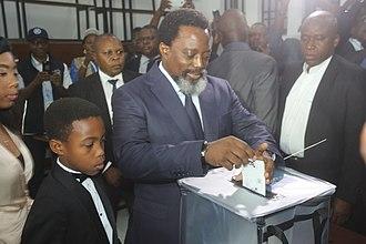 Joseph Kabila - Kabila casting his ballot in the 2018 general elections