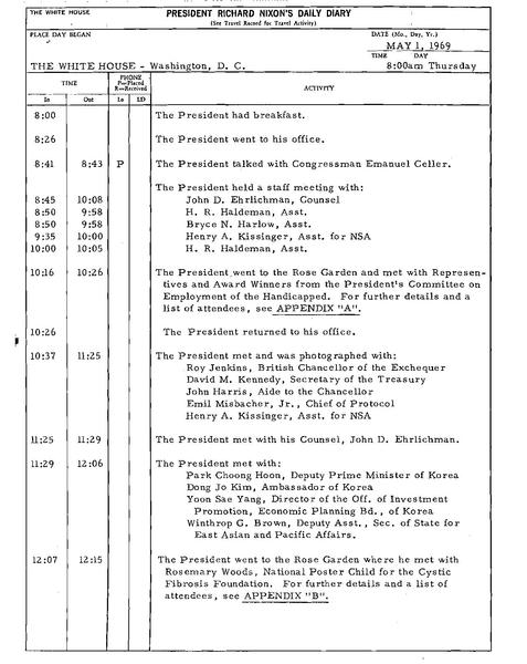File:Presidential Daily Diary, compiled 05-01-1969 - 05-18-1969 ...
