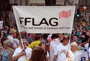 Pride London - FFLAG group taking part in the Pride London March 2011.