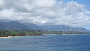 Princeville, Hawaii - Princeville, as seen from the Kilauea Point National Wildlife Refuge