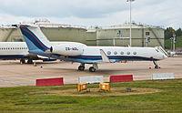 Private Gulfstream V ZS-AOL Gatwick Airport.jpg