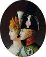 Profile portrait miniature of Alexander I with wife.jpg