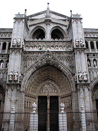 Roman Catholic Archdiocese of Toledo - Main entrance to the Cathedral