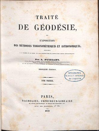 History of geodesy - Louis Puissant, Traité de géodésie, 1842