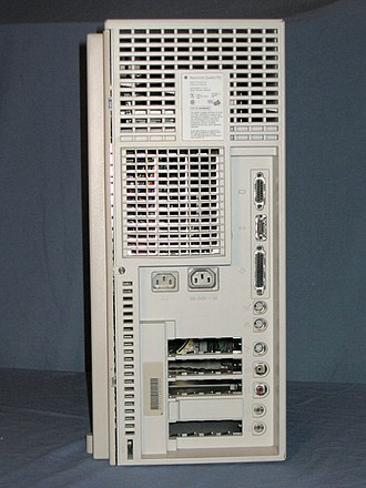 Macintosh Quadra 950 - Rear view of a Quadra 950.