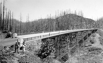 U.S. Route 26 in Oregon - Quartz Creek Bridge in Clatsop County, 1944