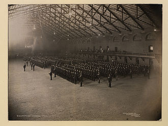 The Queen's Own Rifles of Canada - Queen's Own Rifles on parade in a Toronto drill hall, 1910